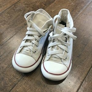 Converse high top converse white Sz 10